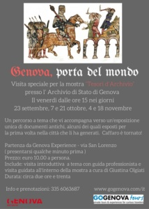 Genova porta del mondo VOLANTINO
